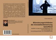 Bookcover of Bilanzierungsrichtlinien die Immobilienbewertung betreffend