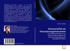 Capa do livro de Genussrechte als Finanzierungsinstrument