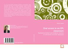 Bookcover of Oral errors in an EFL classroom