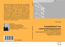 Bookcover of Energiebedarf von Luftverteilungssystemen