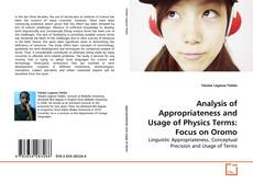Buchcover von Analysis of Appropriateness and Usage of Physics Terms: Focus on Oromo