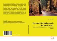 Buchcover von Vertraute Umgebung als Unterrichtsort?