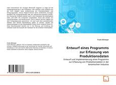 Buchcover von Entwurf eines Programms zur Erfassung von Produktionsdaten