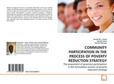 Bookcover of COMMUNITY PARTICIPATION IN THE PROCESS OF POVERTY REDUCTION STRATEGY