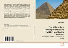 Capa do livro de The Millennium Development Goals (MDGs) and Policy Reform: