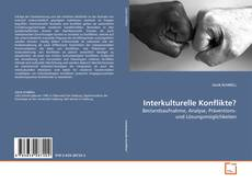Bookcover of Interkulturelle Konflikte?