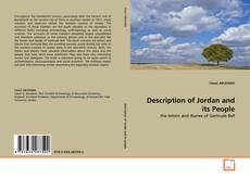 Copertina di Description of Jordan and its People