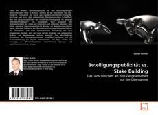 Portada del libro de Beteiligungspublizität vs. Stake Building