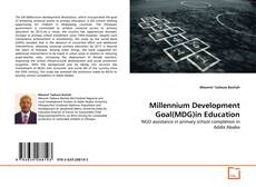 Capa do livro de Millennium Development Goal(MDG)in Education