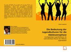 Die Bedeutung der Jugendkulturen für die Adoleszenzphase的封面
