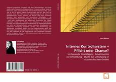 Borítókép a  Internes Kontrollsystem – Pflicht oder Chance? - hoz