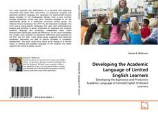 Developing the Academic Language of Limited English Learners的封面