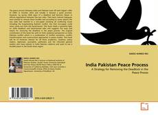 Bookcover of India Pakistan Peace Process
