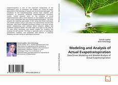 Bookcover of Modeling and Analysis of Actual Evapotranspiration