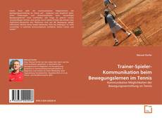 Capa do livro de Trainer-Spieler-Kommunikation beim Bewegungslernen im Tennis