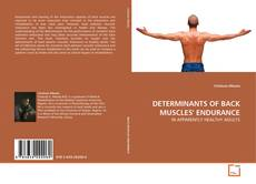 Обложка DETERMINANTS OF BACK MUSCLES' ENDURANCE