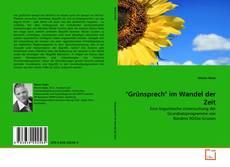 """Buchcover von """"Grünsprech"""" im Wandel der Zeit"""