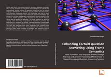 Buchcover von Enhancing Factoid Question Answering Using Frame Semantics