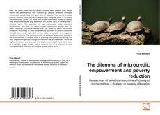 Bookcover of The dilemma of microcredit, empowerment and poverty reduction
