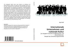 Copertina di Internationale Unternehmen und nationale Kultur