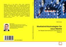 Bookcover of Markteintrittsstrategien für neue Märkte