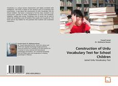 Construction of Urdu Vocabulary Test for School Children kitap kapağı