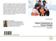 Обложка Patient Satisfaction to Patient Delight