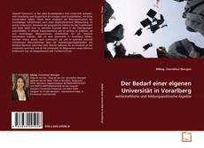 Portada del libro de Der Bedarf einer eigenen Universität in Vorarlberg