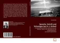 Copertina di Sprache, Schrift und Schweigen bei H.-J. Ortheil