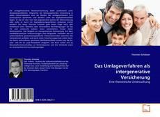 Couverture de Das Umlageverfahren als intergenerative Versicherung
