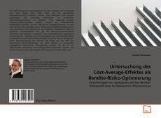 Buchcover von Untersuchung des Cost-Average-Effektes als Rendite-Risiko-Optimierung