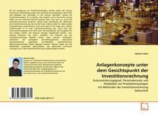 Borítókép a  Anlagenkonzepte unter dem Gesichtspunkt der Investitionsrechnung - hoz