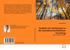 Portada del libro de Qualität von Stichproben in der betriebswirtschaftlichen Forschung