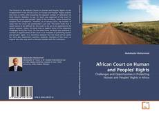 Bookcover of African Court on Human and Peoples' Rights