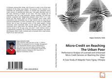 Micro-Credit on Reaching The Urban Poor kitap kapağı