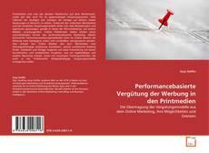 Buchcover von Performancebasierte Vergütung der Werbung in den Printmedien