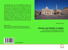 Kirche und Politik in Italien kitap kapağı