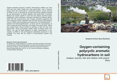 Обложка Oxygen-containing polycyclic aromatic hydrocarbons in soil