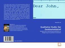 Buchcover von Qualitative Studie: Der Dankbarkeitsbrief