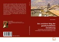 Capa do livro de Der unsichere Weg der gesellschaftlichen Versöhnung