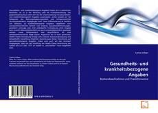 Capa do livro de Gesundheits- und krankheitsbezogene Angaben