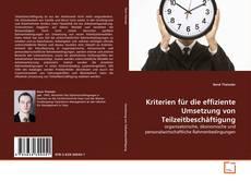 Bookcover of Kriterien für die effiziente Umsetzung von Teilzeitbeschäftigung