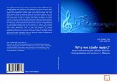 Portada del libro de Why we study music?