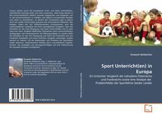 Обложка Sport Unterricht(en) in Europa