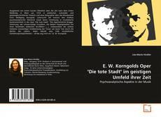 """Buchcover von E. W. Korngolds Oper """"Die tote Stadt"""" im geistigen Umfeld ihrer Zeit"""