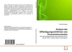 Couverture de Analyse der Offenlegungsrichtlinien von Finanzinstrumenten