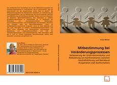 Buchcover von Mitbestimmung bei Veränderungsprozessen