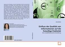 Bookcover of Einfluss der Qualität von Informationen auf die freiwillige Publizität
