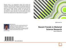 Bookcover of Recent Trends in Material Science Research
