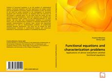 Capa do livro de Functional equations and characterization problems